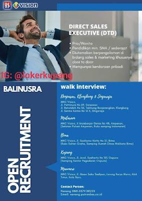 Loker Walk In Interview MNC Vision Sebagai Direct Sales Executive (DTD)