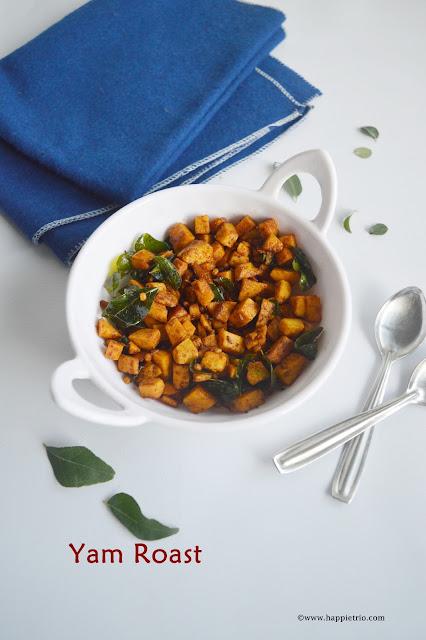 Yam Roast Recipe | Karunai Kizhangu Varuval