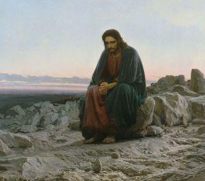 Cristos in desert - Ivan Kramskoi