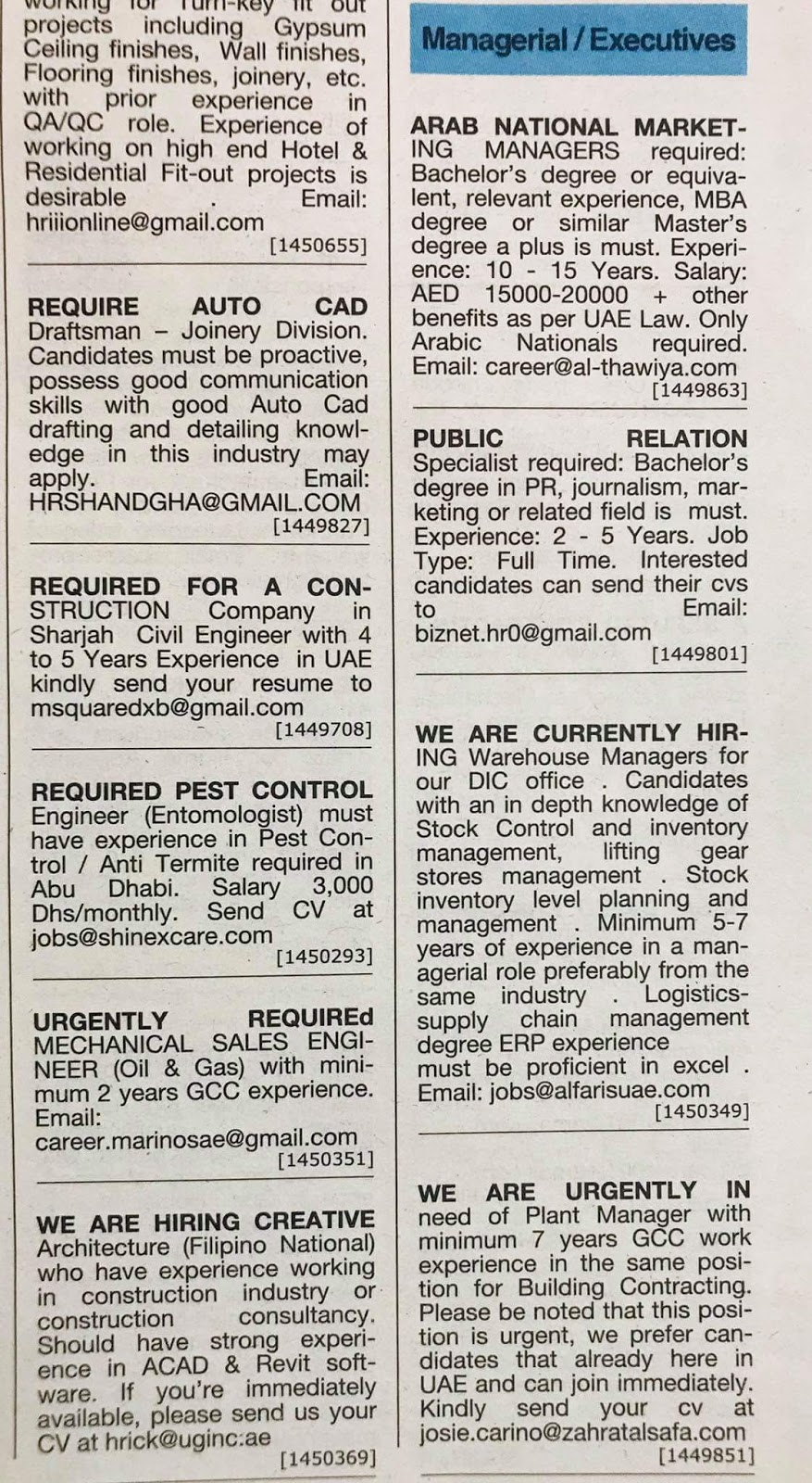 Dubai jobs local hiring khalej Times-UAE-0410116- Jobs in Abroad