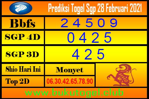 Perkiraan Sgp untuk 28 Februari 2021