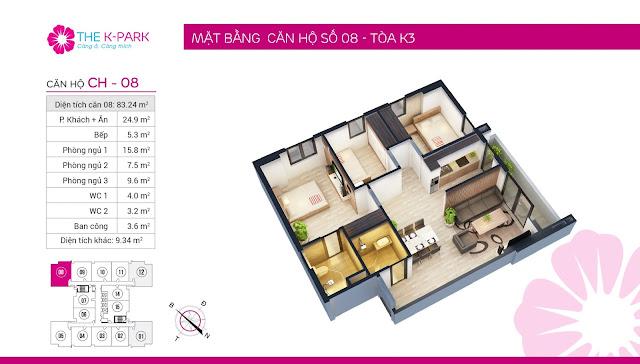 Thiết kế căn hộ số 08