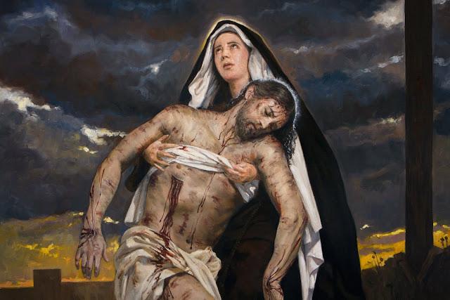 Nossa Senhora segurando Jesus Cristo morto