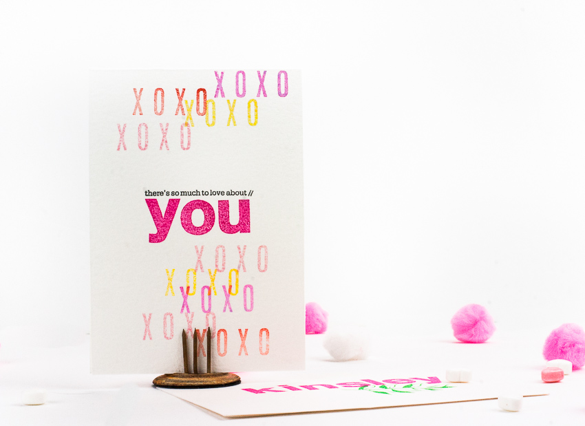Handmade Stamped Valentine's Day Cards
