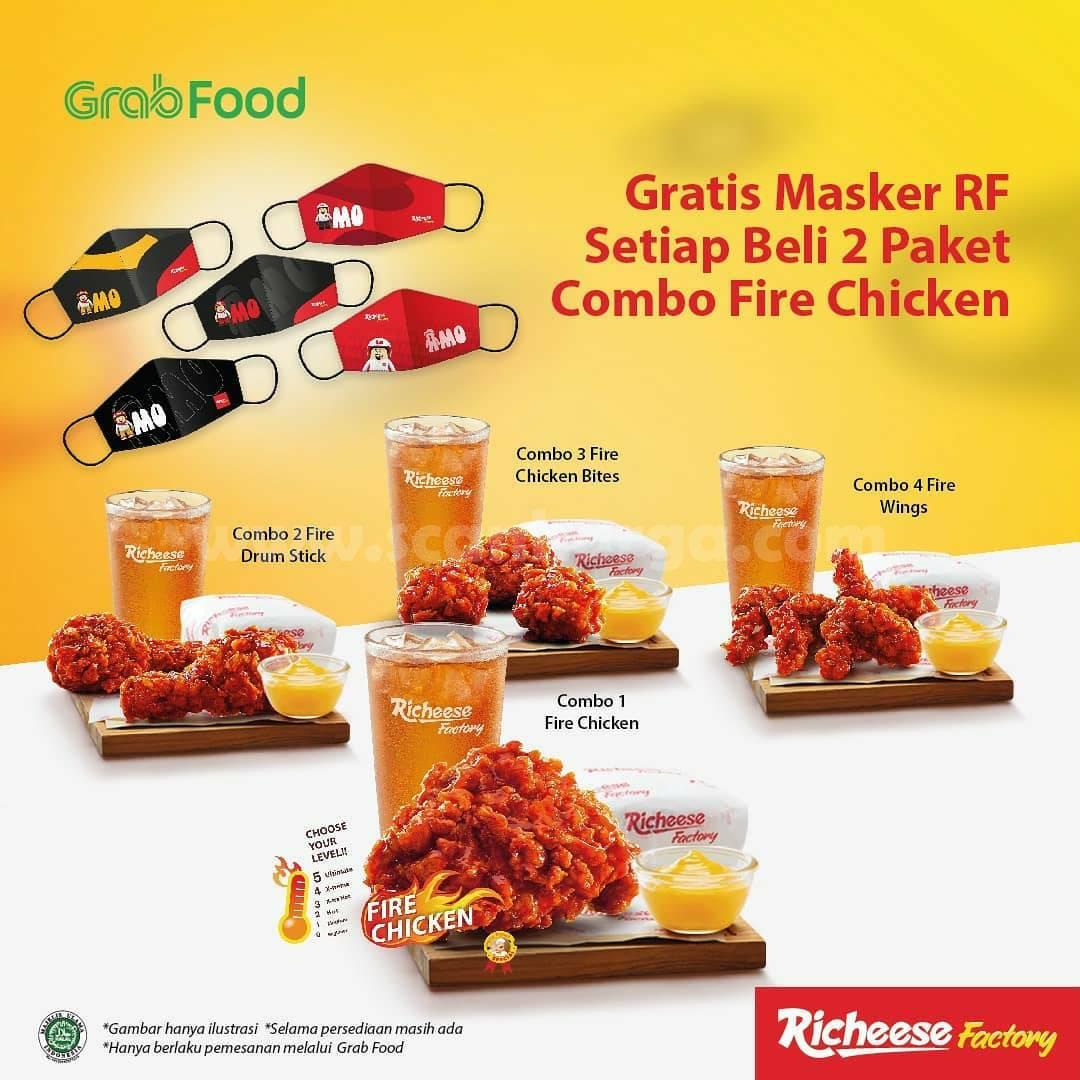 Richeese Factory Promo – Gratis Masker RF khusus Pesan via Grabfood