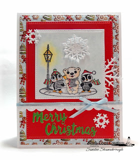 North Coast Creations Stamp Set: Very Merry, Paper Collection: Very Merry, ODBD Custom Dies:  Pierced Squares, Pierced Rectangles, Snow Crystals, Bitty Borders, Holiday Words