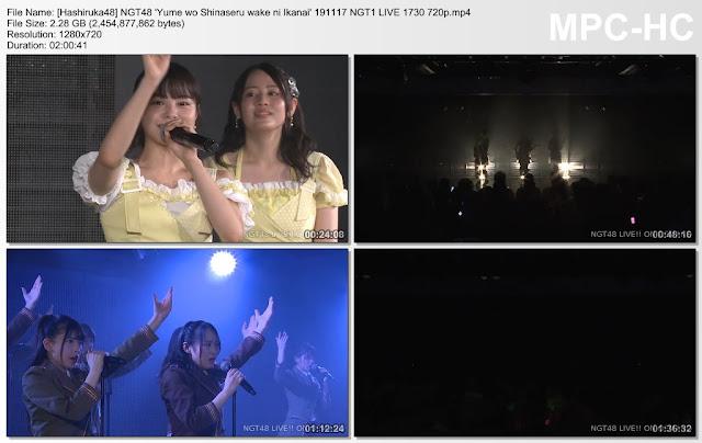 NGT48 'Yume wo Shinaseru wake ni Ikanai' 191117 NGT1 LIVE 1730