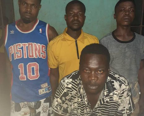 The Four notorious Lagos 'cultists' arrested in Ogun State