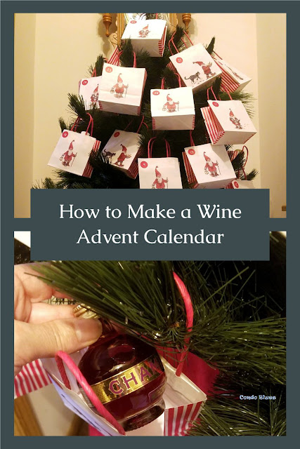 how to make a quick and easy Advent Christmas tree calendar