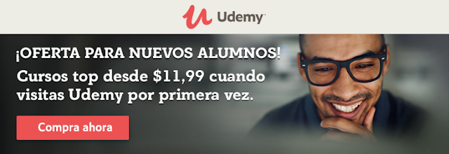 Oferta para nuevos alumnos Udemy