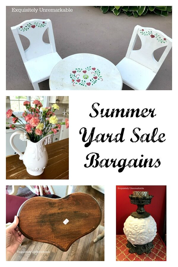 Summer Yard Sale Bargains with photos of finds