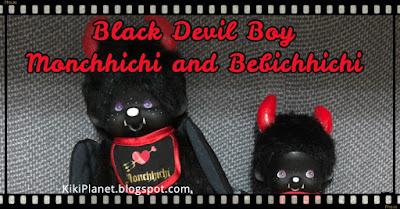 kiki monchhichi black devil boy diable noir satan Lucifer