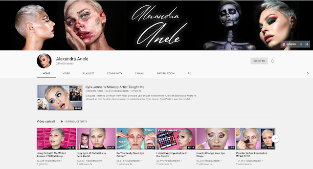 canali youtube makeup preferiti alexandra anele, pat mcgrath, favourite makeup beauty channels