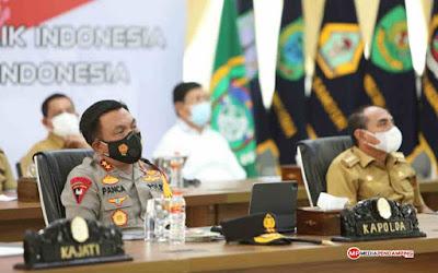 Kapolda Sumatera Utara Ikuti Video Conference Bersama Presiden RI Secara Virtual