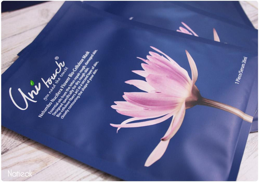 Masques bio-cellulose aux huiles essentielles de lotus de Unitouch