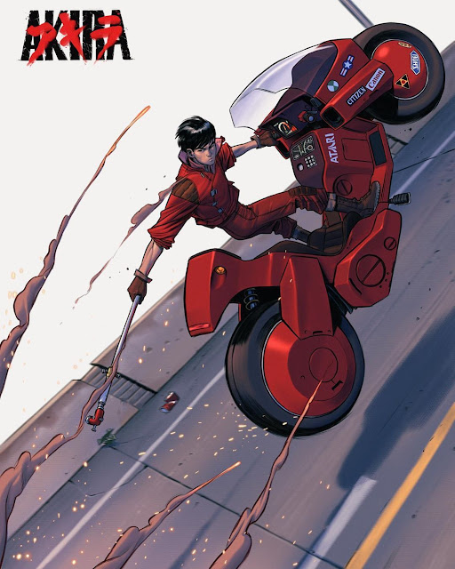 Kaneda's Power Bike - Walking Stick Art