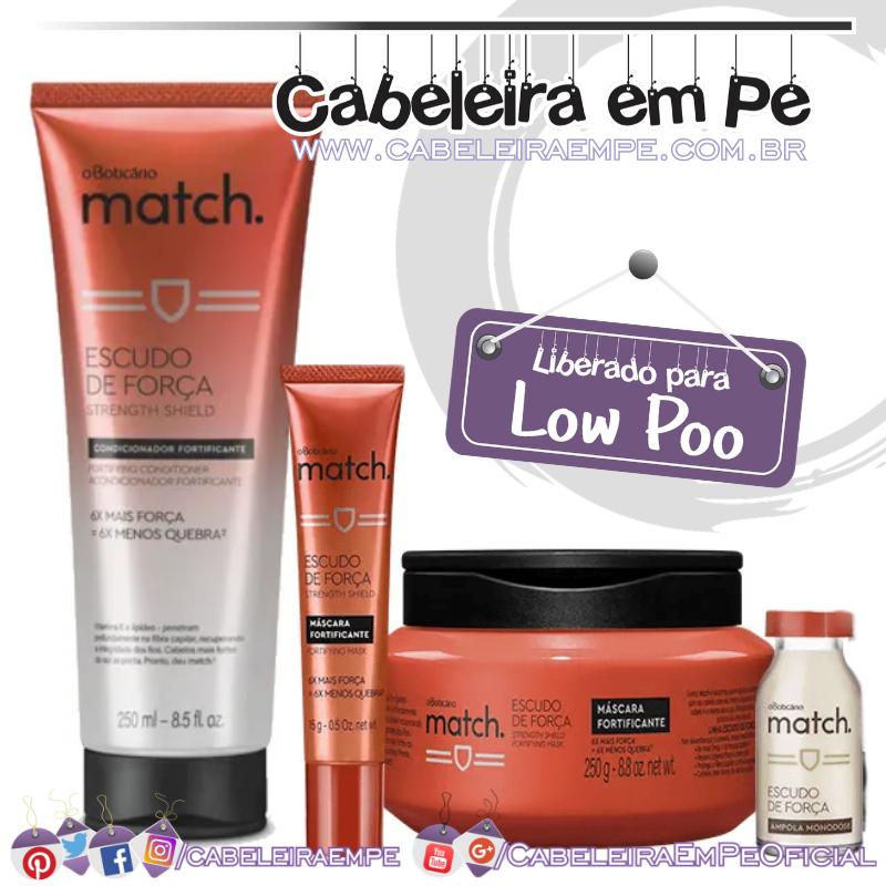 Condicionador, Máscara, Ampola e Bisnaga Escudo de Força Match - O Boticário (Low Poo).png