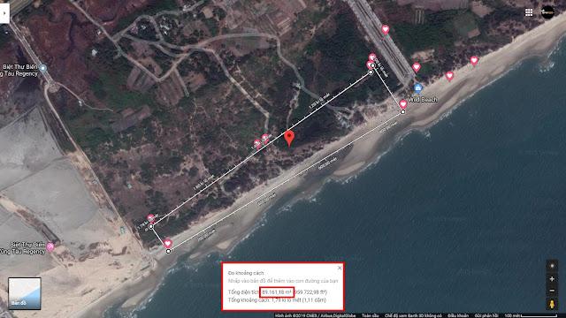Bán 8,9ha Đất sạch, Mặt tiền biển 780m tại Phường 11, Tp.Vũng Tàu.