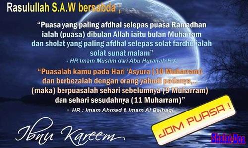 Niat Puasa 9 10 Asyura Keutamaan Amalan Hikmah Doa 1 Muharram