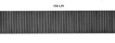 Scanned strip shows 150 lines per inch