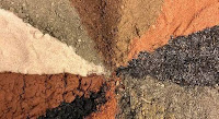A colorful array of different types of soil.