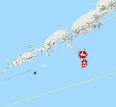 Epicentro sismo 7,5 grados en Alaska, 19 de Octubre 2020