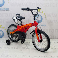 16in United Aero Lite BMX Rangka Aloi  Magnesium Rear Disc Brake Kids Bike