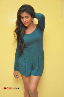 Telugu Actress Prasanthi Stills in Green Short Dress at Swachh Hyderabad Cricket Press Meet  0020.JPG