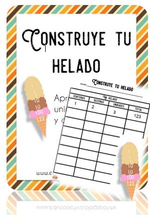 Helado Unidad, Decena y Centena - EDUCOACTIVA