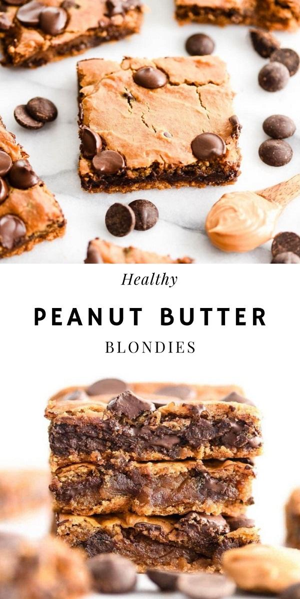 Healthy Peanut Butter Blondies