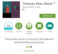game android offline full Thomas was Alone
