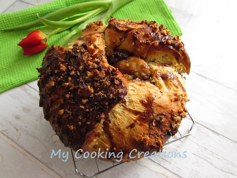 Козуначена торта с кафе, орехи и шоколад * Torta brioche al caffè, noci e cioccolato
