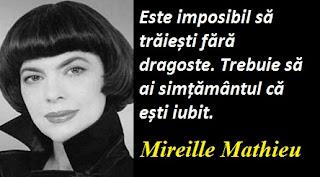 Citatul zilei: 22 iulie - Mireille Mathieu