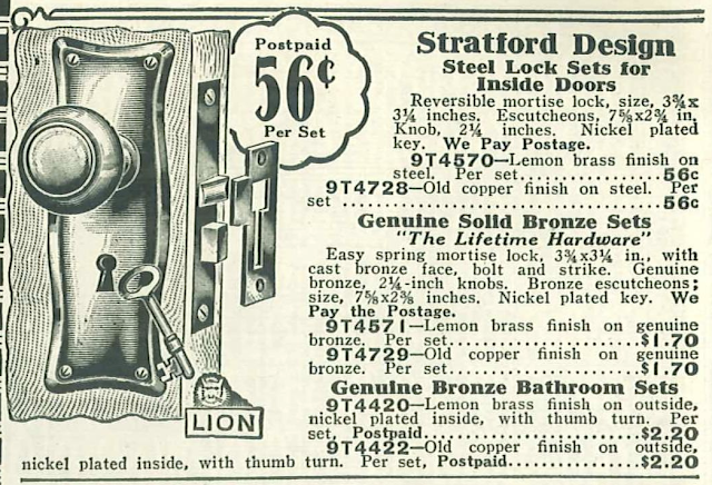 Sears Stratford hardware 1929 catalog