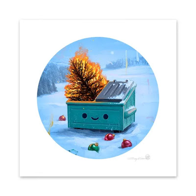 Dumpster Fire Holiday Inferno Timed Edition Art Print by Rory Kurtz x 100% Soft