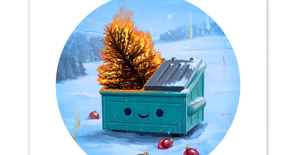 The Blot Says Dumpster Fire Holiday Inferno Timed Edition Art