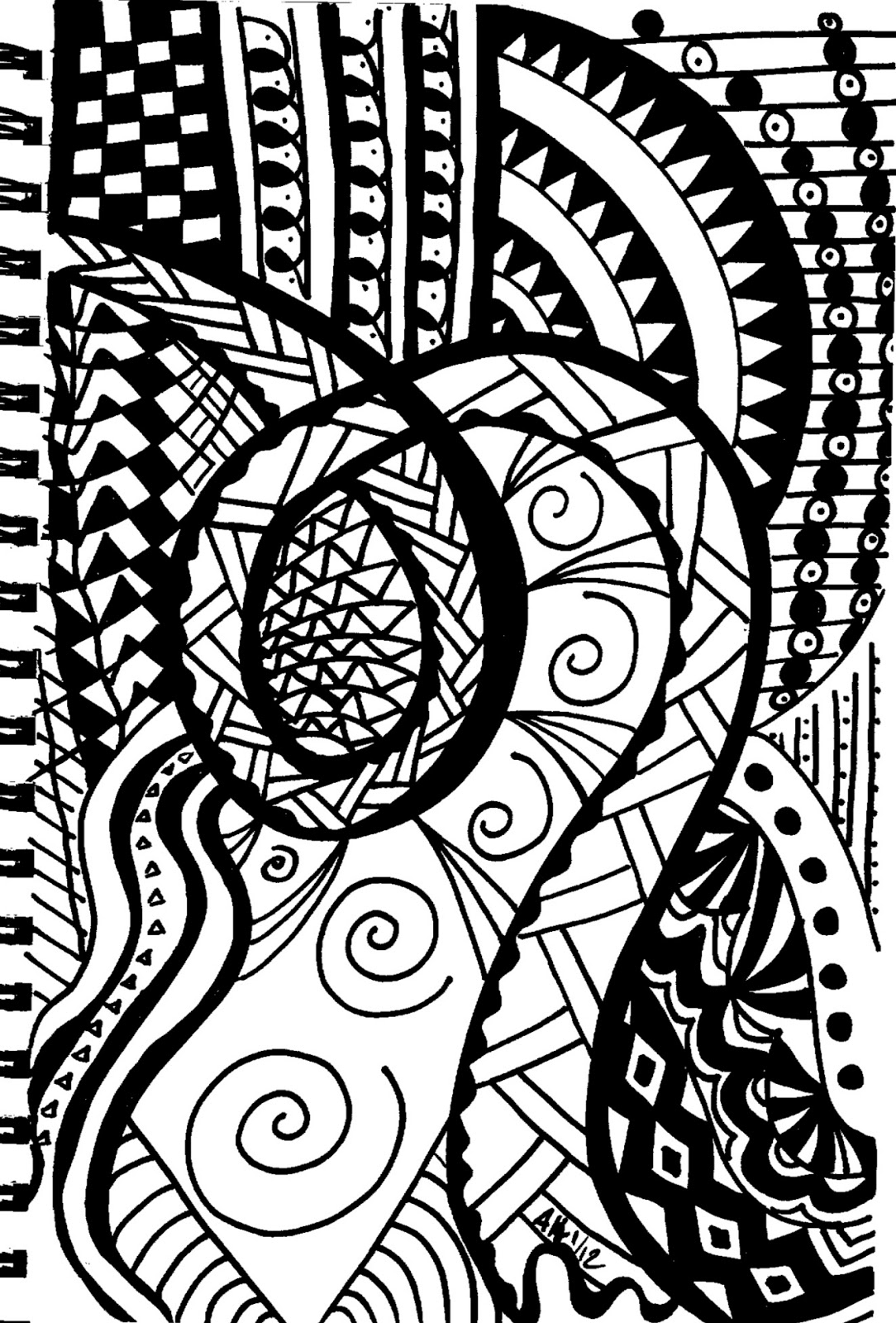 Easy Abstract Doodles images