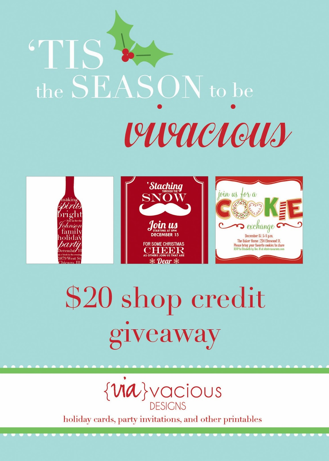 12 days of giveaways flyer