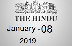 The Hindu Newspaper Today 08 January 2019 Download PDF
