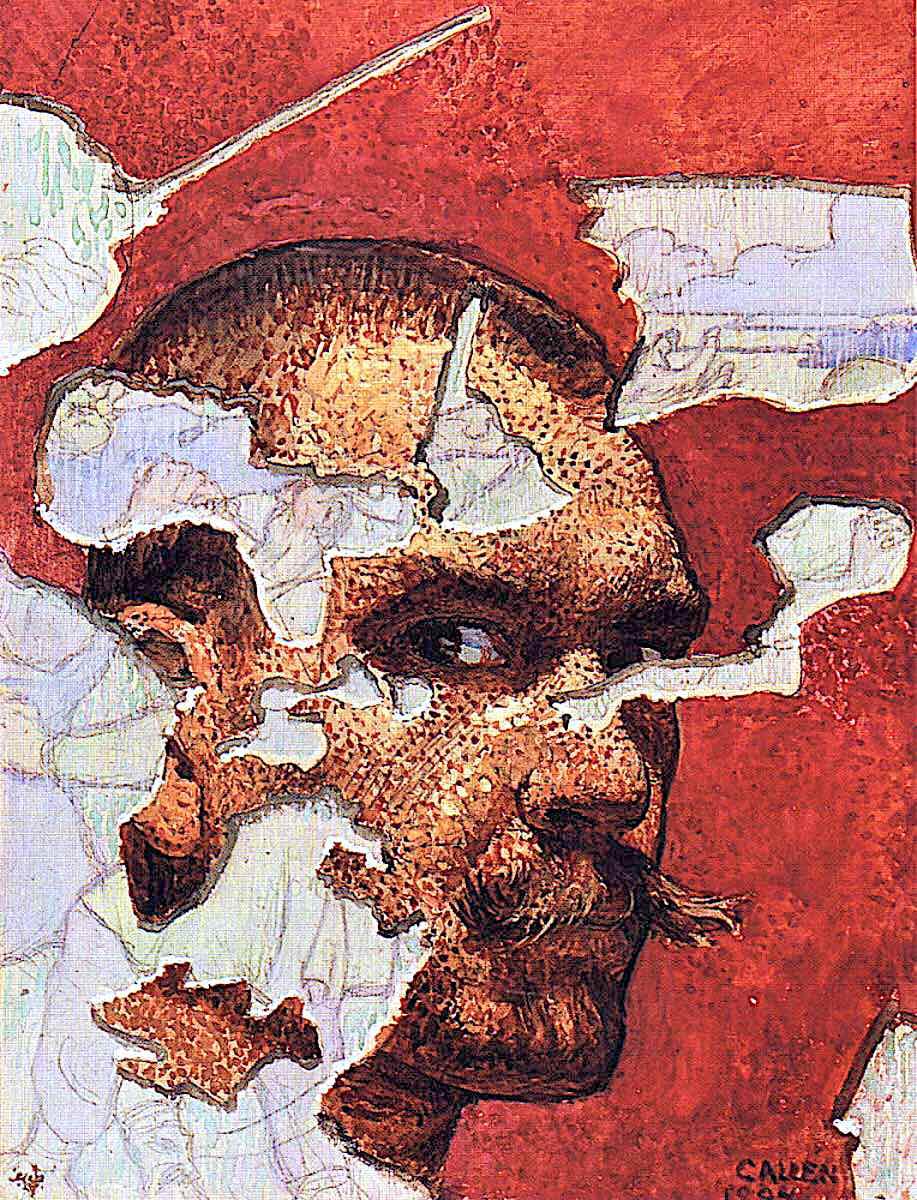 a self portrait by Akseli Gallen Kallela