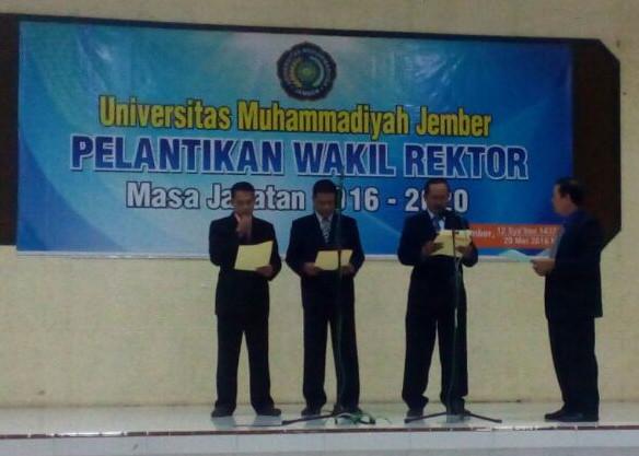 pelantikan wakil rektor universitas muhammadiyah jember