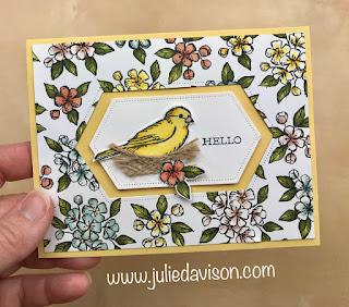 Stampin' Up! Bird Ballad Suite ~ 4 Free as a Bird Projects ~ 2019-2020 Annual Catalog ~ www.juliedavison.com