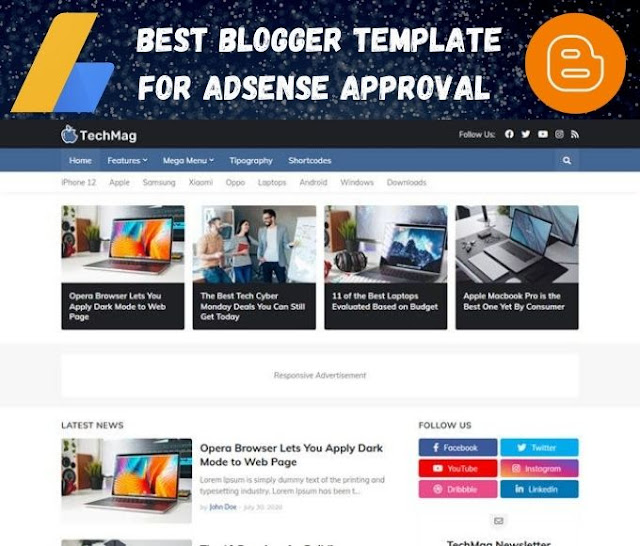 free blogger template, blogger templates, adsense approval blogger template, best blogger template, templateify techmag template review customization, free blogger template 2020, blogger template adsense, best template for adsense approval