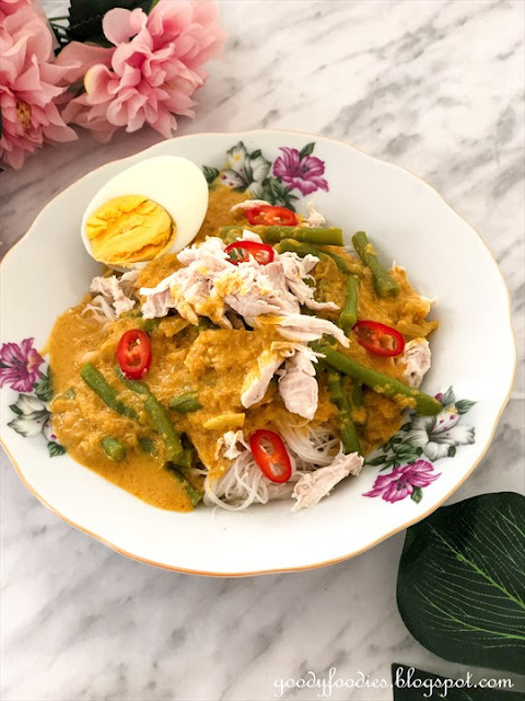 ipoh dry curry mee with chicken recipe