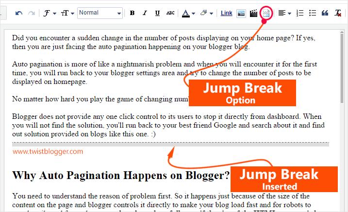 Insert Jump Break Option