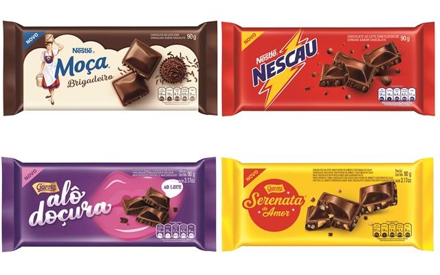 COMER & BEBER: Nestlé e Garoto lançam linha de tabletes de chocolates com marcas consagradas