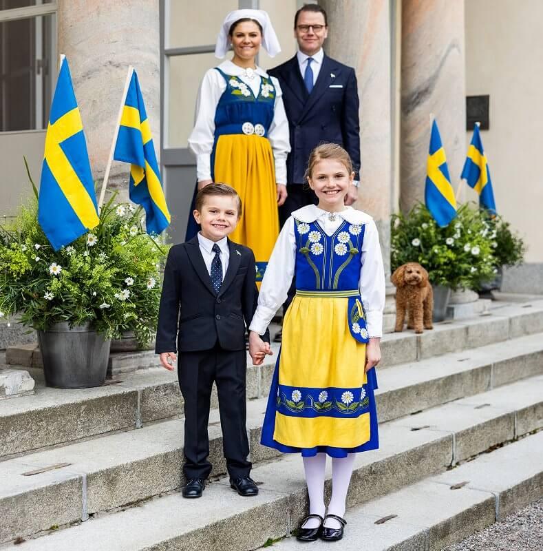 Crown Princess Victoria, Prince Daniel, Princess Estelle and Prince Oscar