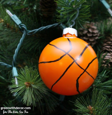Make these easy DIY baseball and basketball ornaments. What a cute idea, saving this one for Christmas!
