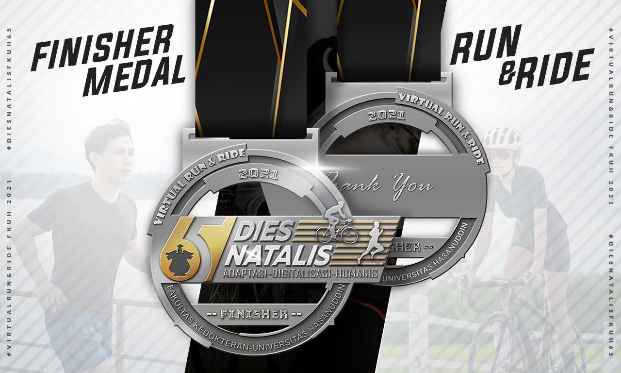 Medal 🏅 Dies Natalis 65 FK Unhas Virtual Run & Ride • 2021