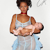 Rihanna carries baby ,goes braless for CrFashion book